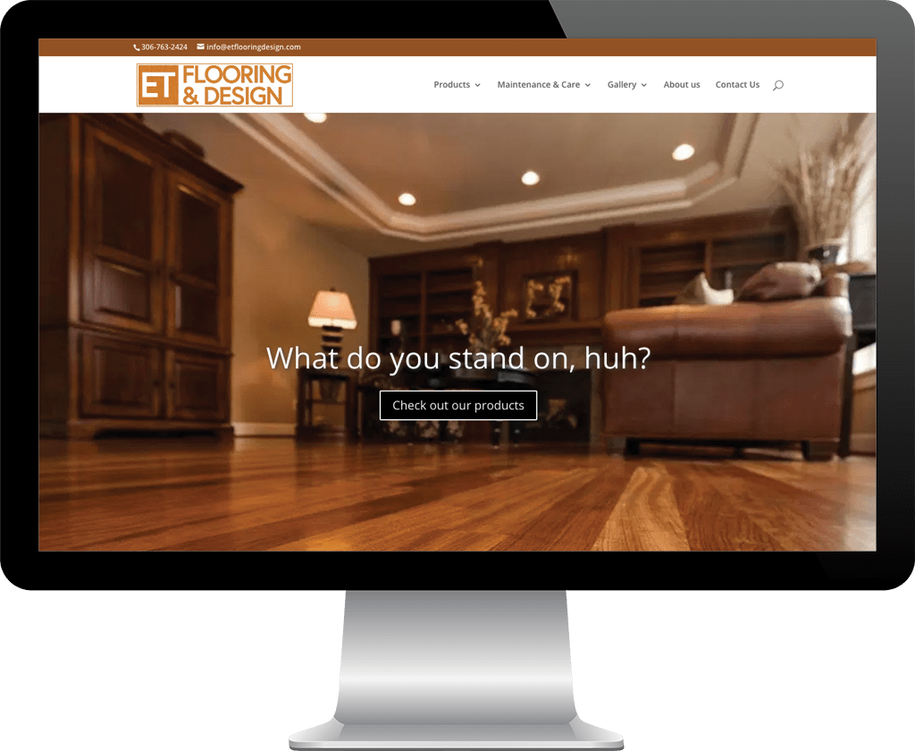 E. T. Flooring and Design Prince Albert / Web Design Portfolio