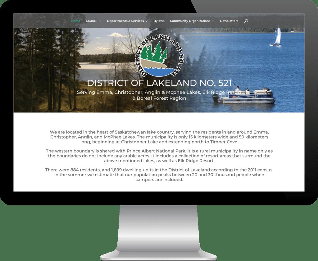 RM district of Lakeland / Web Designer Portfolio