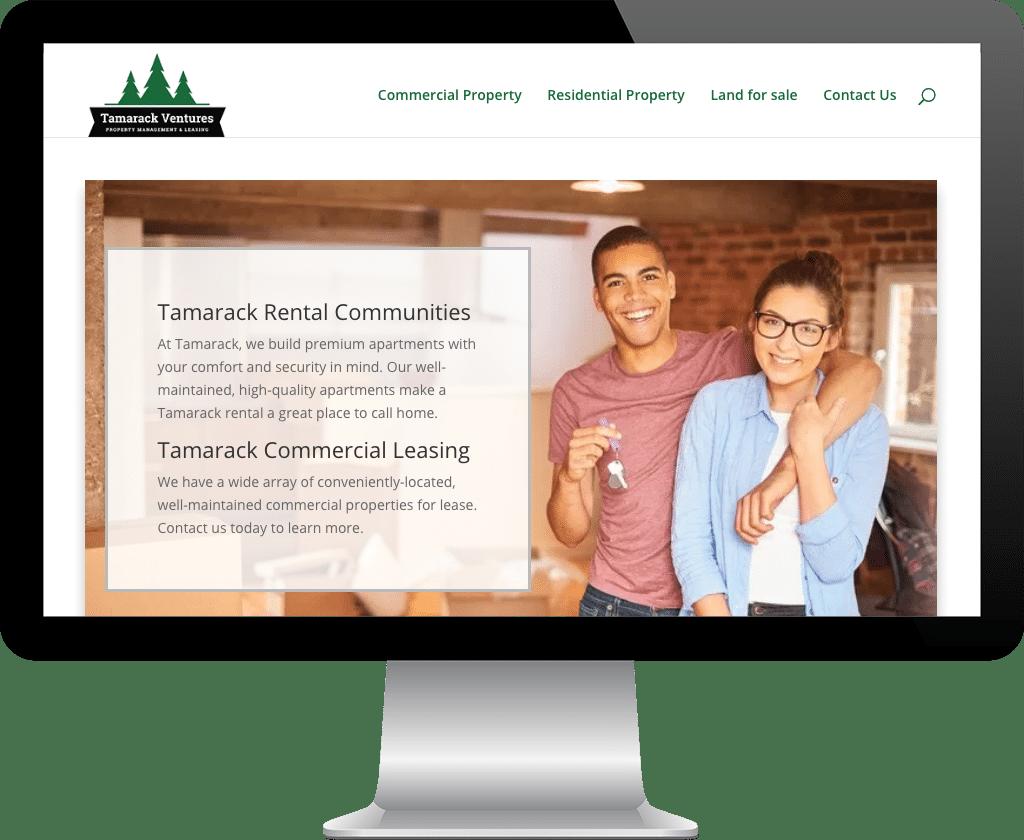 Tamarack Ventures Prince Albert / Web Design Portfolio