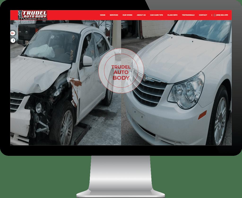 Trudel Autobody Prince Albert / Website Design Portfolio