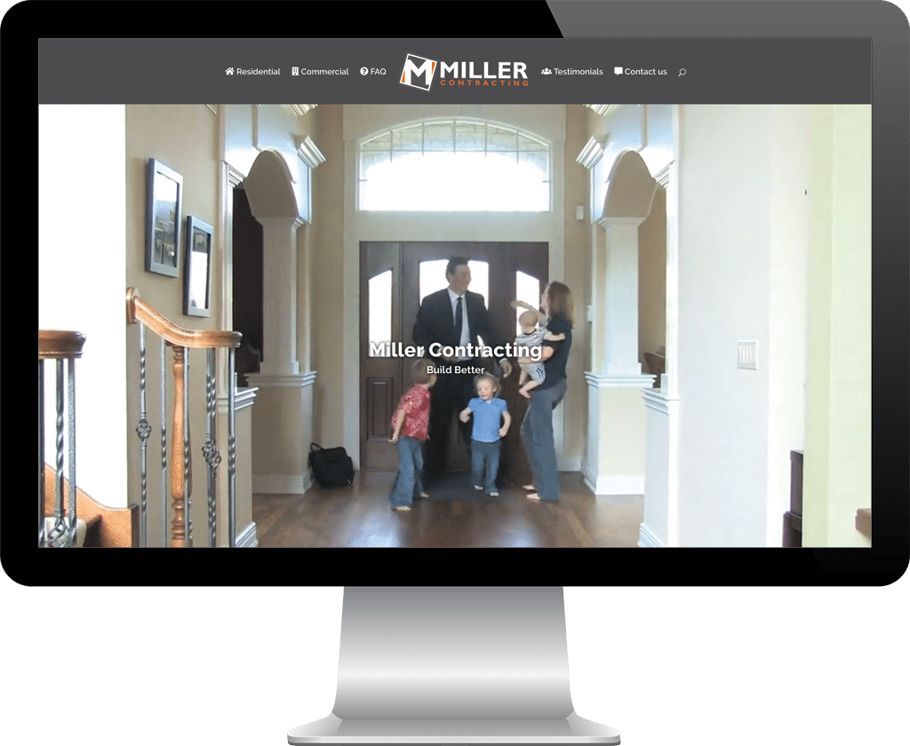 Miller Contracting Prince Albert / Web Design Portfolio