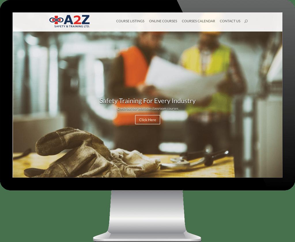 A2Z Safety and Training Prince Albert / Website Design Portfolio